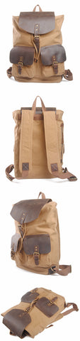 Santiago - Beige - Canvas Backpack