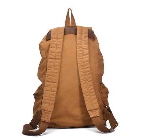 Salvador - Dark Grey - Vintage Style Canvas Backpack