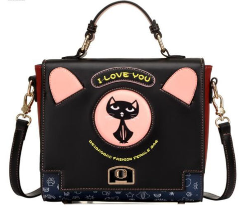 CatLover - Black - Messenger Bag