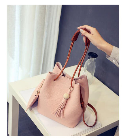Isabelle - Pink - Bucket Bag