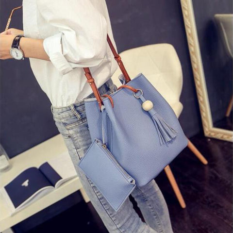 Isabelle - Blue - Bucket Bag