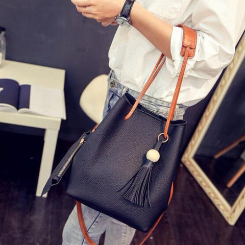 Isabelle - Black - Bucket Bag