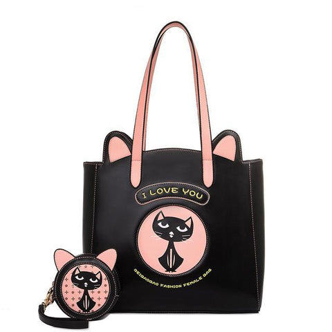 CatLover - Black - Tote Bag & Clutch