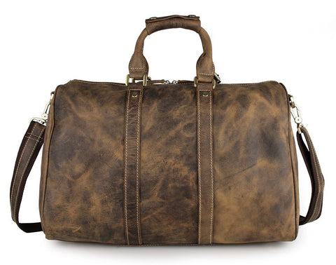 Outback - Brown - Men's Leather Duffle Bag