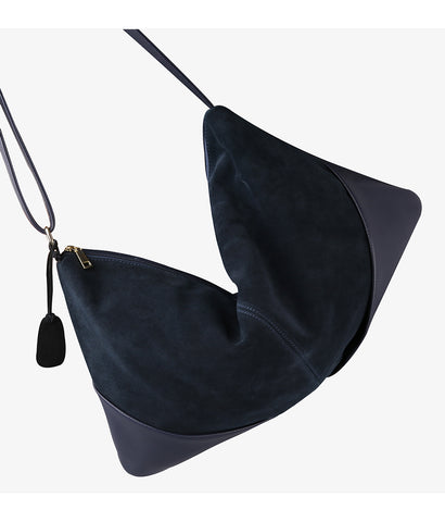 Carla - Black - Suede Leather Handbag