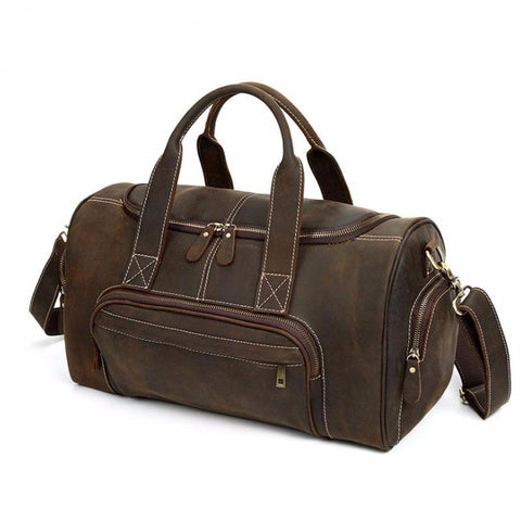 Executive - Brown - Genuine Leather Travel Bag