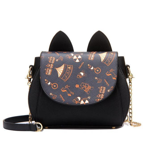 CatScenery - Black - Shoulder Bag