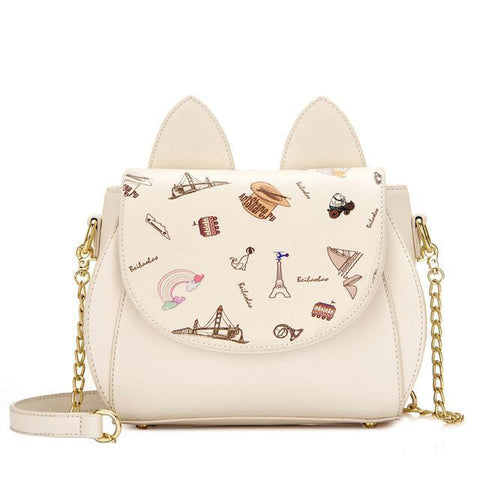CatScenery - Beige - Shoulder Bag