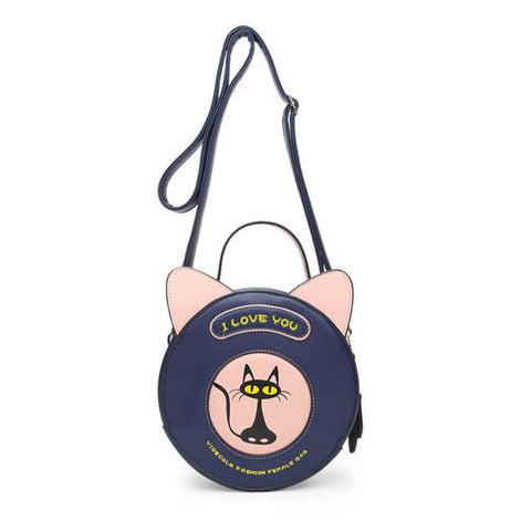 CatLover - Dark Blue - Shoulder Bag