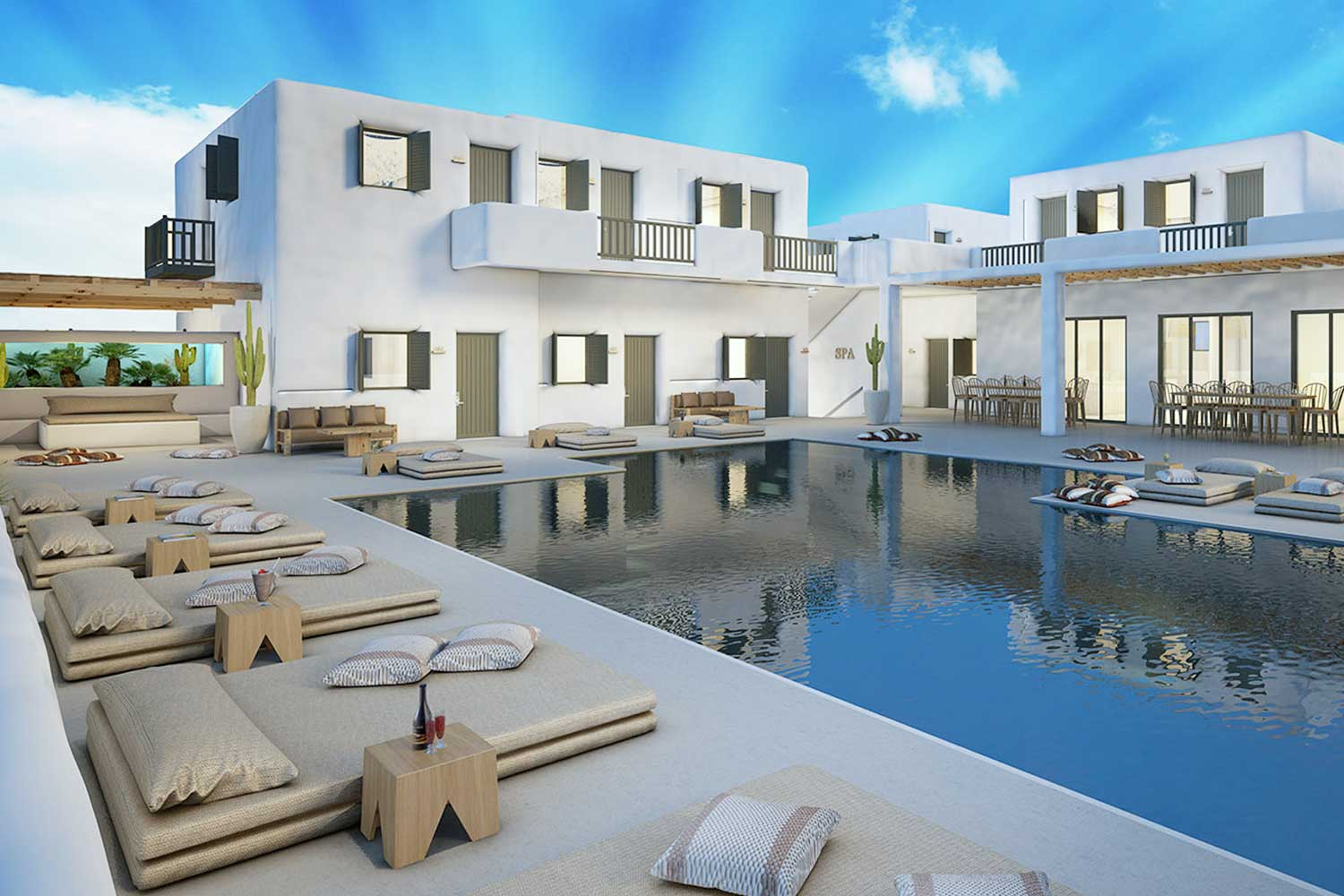 grece Mykonos hotel vegan eco friendly luxe voyage