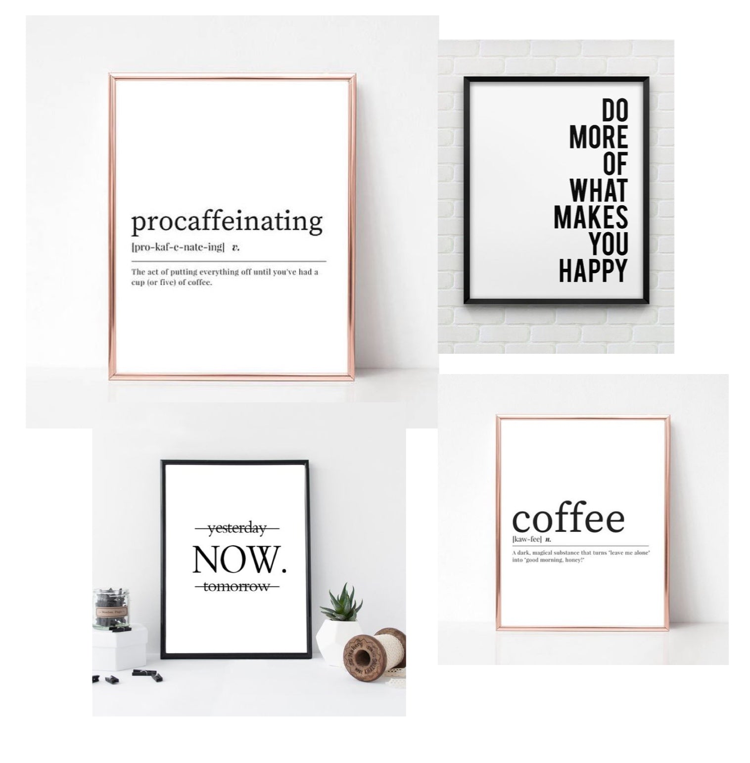 secret sante idee cadeau petit budget 15 euros cadre citations printable quote coffee lovers