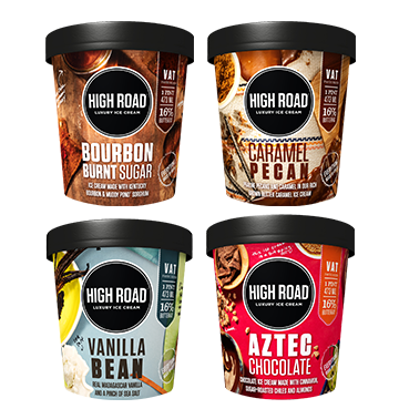 High Road Classics (2 pints of each flavor; 8 pints total) SHIPPING INCLUDED.