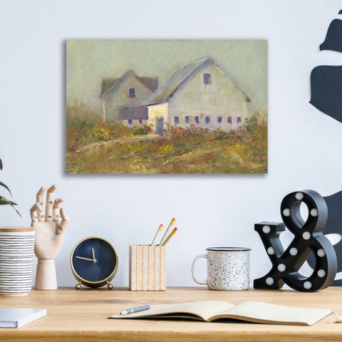 Epic Art 'White Barn I' by Marilyn Wendling, Acrylic Glass Wall Art,16x12