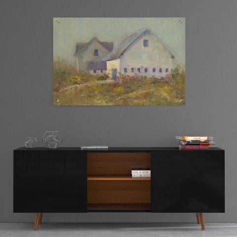 Image of Epic Art 'White Barn I' by Marilyn Wendling, Acrylic Glass Wall Art,36x24