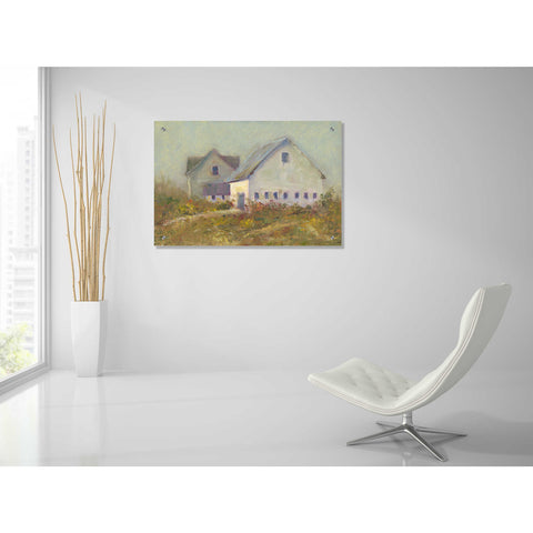 Epic Art 'White Barn I' by Marilyn Wendling, Acrylic Glass Wall Art,36x24