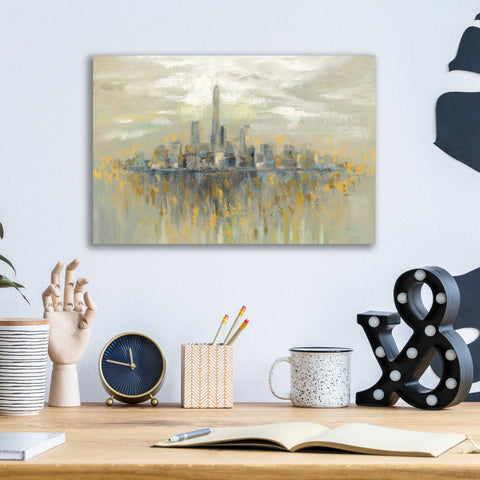 Epic Art 'Manhattan Fog' by Silvia Vassileva, Acrylic Glass Wall Art,16x12