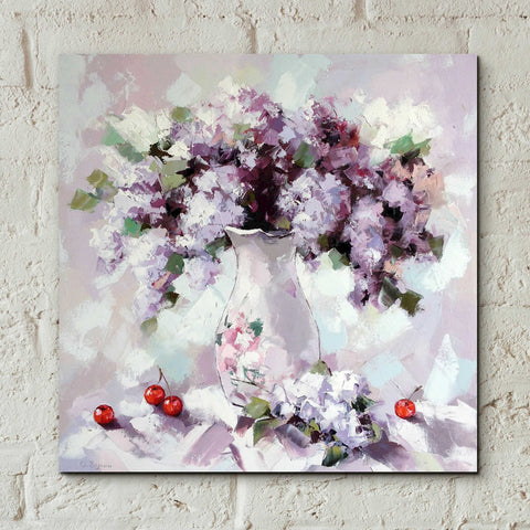 Image of Epic Art 'Lilacs' by Alexander Gunin, Acrylic Glass Wall Art,12x12