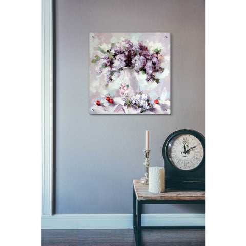 Epic Art 'Lilacs' by Alexander Gunin, Acrylic Glass Wall Art,24x24