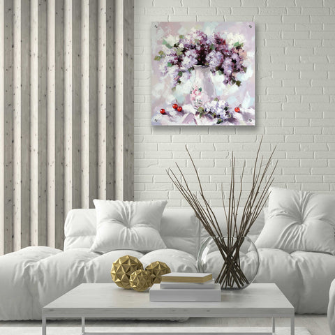 Image of Epic Art 'Lilacs' by Alexander Gunin, Acrylic Glass Wall Art,24x24