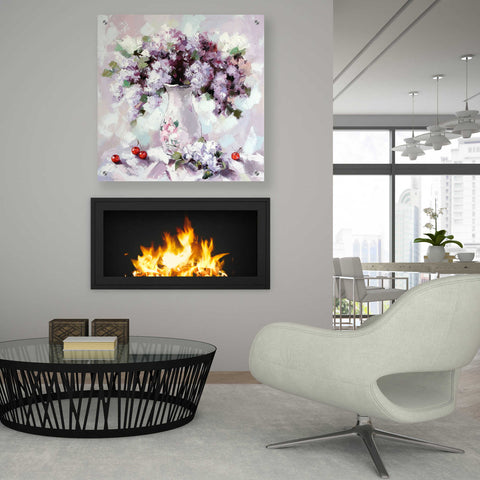 Epic Art 'Lilacs' by Alexander Gunin, Acrylic Glass Wall Art,36x36