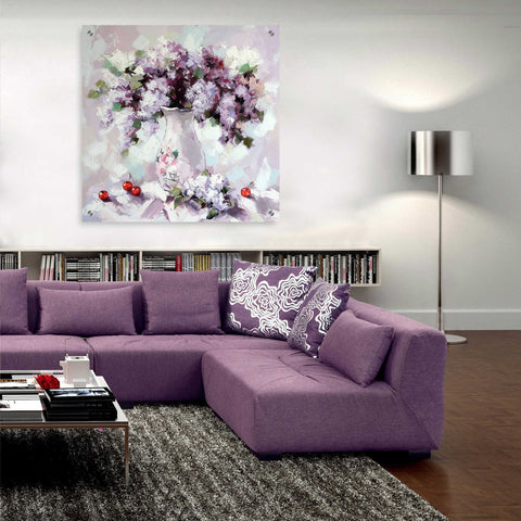 Image of Epic Art 'Lilacs' by Alexander Gunin, Acrylic Glass Wall Art,36x36