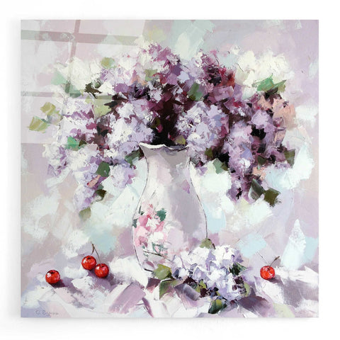 Image of Epic Art 'Lilacs' by Alexander Gunin, Acrylic Glass Wall Art