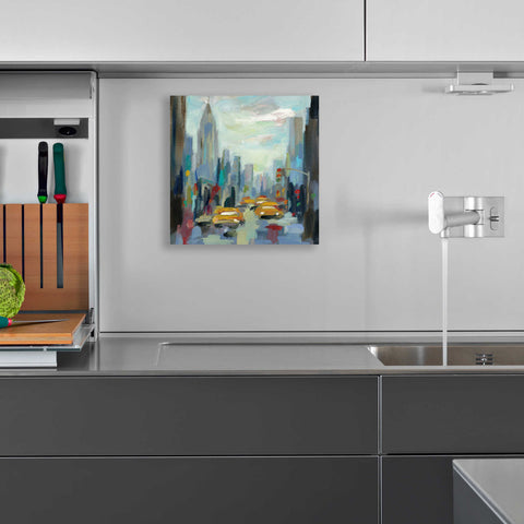 Image of Epic Art 'Manhattan Sketches I' by Silvia Vassileva, Acrylic Glass Wall Art,12x12