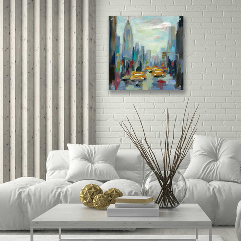 Image of Epic Art 'Manhattan Sketches I' by Silvia Vassileva, Acrylic Glass Wall Art,24x24