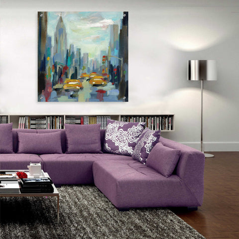Epic Art 'Manhattan Sketches I' by Silvia Vassileva, Acrylic Glass Wall Art,36x36