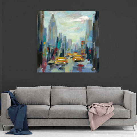 Image of Epic Art 'Manhattan Sketches I' by Silvia Vassileva, Acrylic Glass Wall Art,36x36