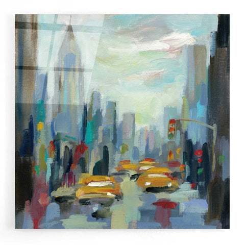 Image of Epic Art 'Manhattan Sketches I' by Silvia Vassileva, Acrylic Glass Wall Art