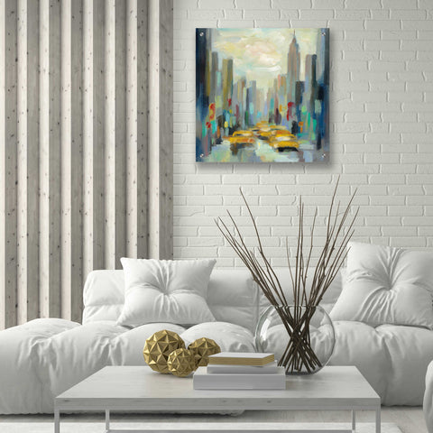 Image of Epic Art 'Manhattan Sketches II' by Silvia Vassileva, Acrylic Glass Wall Art,24x24