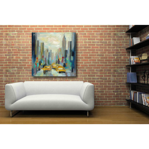 Image of Epic Art 'Manhattan Sketches II' by Silvia Vassileva, Acrylic Glass Wall Art,36x36
