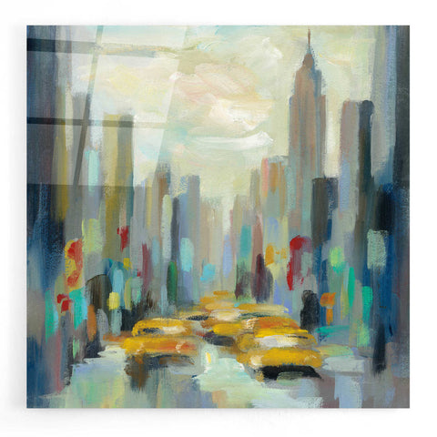 Image of Epic Art 'Manhattan Sketches II' by Silvia Vassileva, Acrylic Glass Wall Art