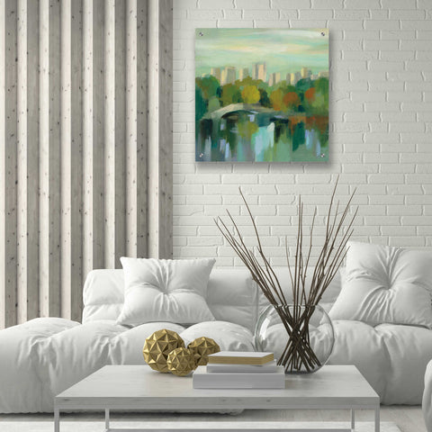 Image of Epic Art 'Manhattan Sketches III' by Silvia Vassileva, Acrylic Glass Wall Art,24x24