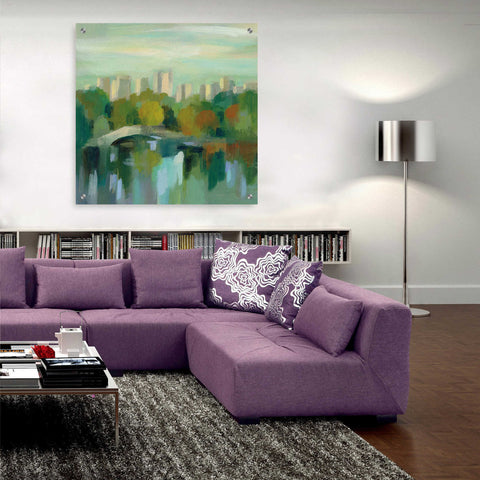 Epic Art 'Manhattan Sketches III' by Silvia Vassileva, Acrylic Glass Wall Art,36x36