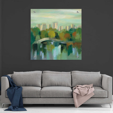 Image of Epic Art 'Manhattan Sketches III' by Silvia Vassileva, Acrylic Glass Wall Art,36x36