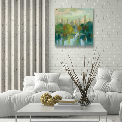 Image of Epic Art 'Manhattan Sketches IV' by Silvia Vassileva, Acrylic Glass Wall Art,24x24