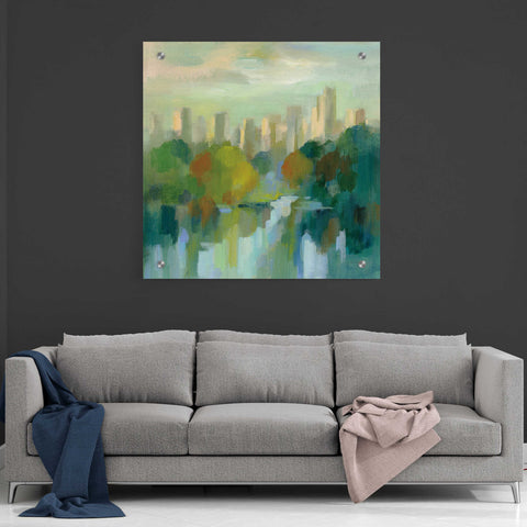 Image of Epic Art 'Manhattan Sketches IV' by Silvia Vassileva, Acrylic Glass Wall Art,36x36