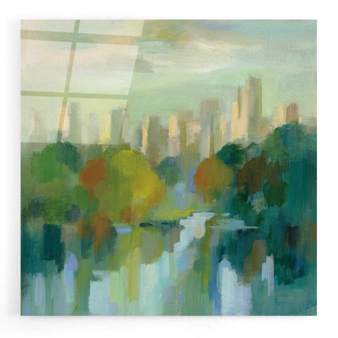 Image of Epic Art 'Manhattan Sketches IV' by Silvia Vassileva, Acrylic Glass Wall Art