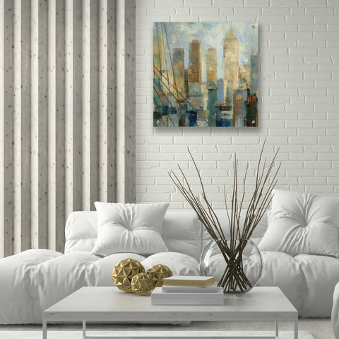 Image of Epic Art 'Manhattan Sketches V' by Silvia Vassileva, Acrylic Glass Wall Art,24x24