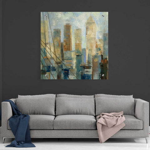 Image of Epic Art 'Manhattan Sketches V' by Silvia Vassileva, Acrylic Glass Wall Art,36x36