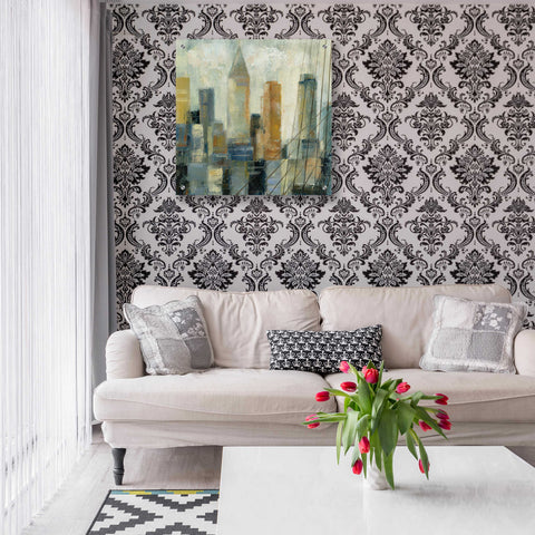 Image of Epic Art 'Manhattan Sketches VI' by Silvia Vassileva, Acrylic Glass Wall Art,24x24