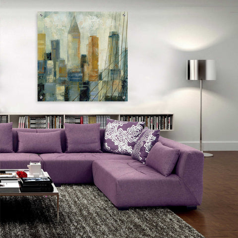 Epic Art 'Manhattan Sketches VI' by Silvia Vassileva, Acrylic Glass Wall Art,36x36