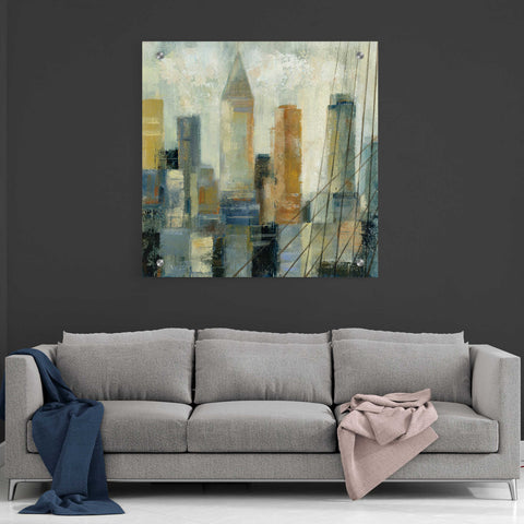 Image of Epic Art 'Manhattan Sketches VI' by Silvia Vassileva, Acrylic Glass Wall Art,36x36