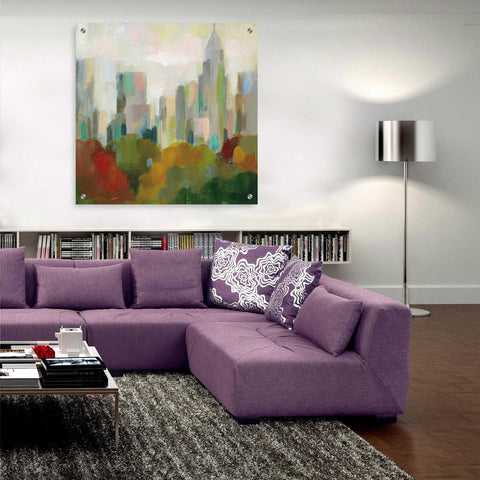 Image of Epic Art 'NYC Central Park II' by Silvia Vassileva, Acrylic Glass Wall Art,36x36