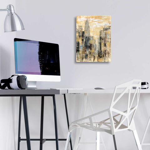 Image of Epic Art 'Manhattan Gray and Gold I' by Silvia Vassileva, Acrylic Glass Wall Art,12x16