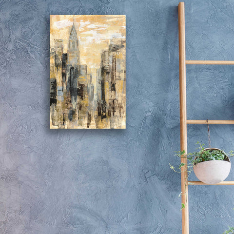 Image of Epic Art 'Manhattan Gray and Gold I' by Silvia Vassileva, Acrylic Glass Wall Art,16x24