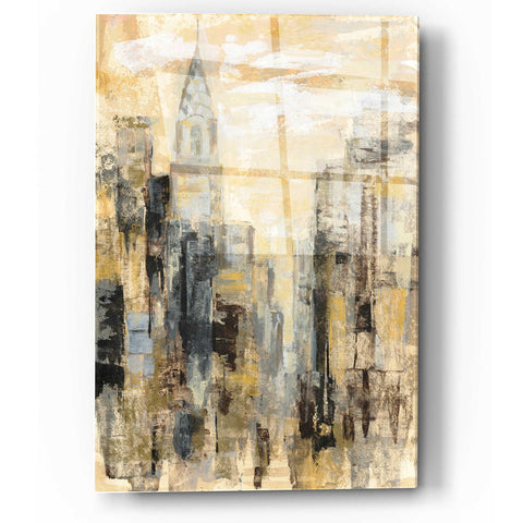 Image of Epic Art 'Manhattan Gray and Gold I' by Silvia Vassileva, Acrylic Glass Wall Art