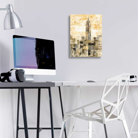 Image of Epic Art 'Manhattan Gray and Gold II' by Silvia Vassileva, Acrylic Glass Wall Art,12x16